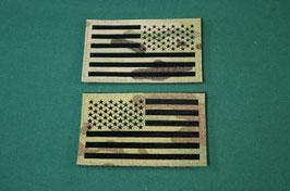 星条旗 IR フラッグパッチ マルチカムカラー 左右セット
