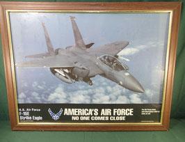 空軍 F-15E Strike Eagle 戦闘機 額縁