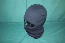 ブラックカラー 目出し帽 フード 防寒
