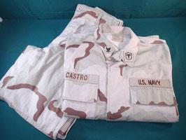 売切れ 米軍放出品 パッチ付き 3C リップストップジャケット・パンツセット M-R