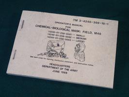 売切れ M40ガスマスク オペレーションマニュアル