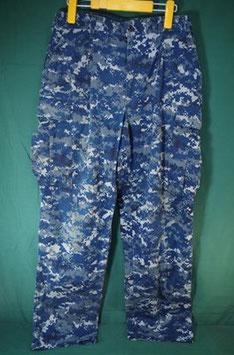 U.S NAVY NWU 海軍 ブルーデジタル パンツ M-R 中古
