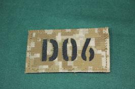 売切れ AOR1 コールサインパッチ IR D06