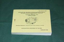 米軍実物 M145 スコープ用 マニュアル