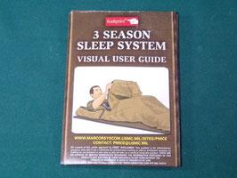 沖縄米軍実物 USMC 3 SEASON SLEEP SYSTEM 用マニュアル