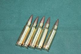 7.62mm  ダミーカート 5発 ダミー弾頭付き