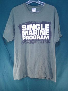 売切れ SINGLE MARINE PROGRAM プリントTシャツ