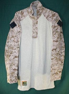 売切れ 海兵隊 デザート FROG コンバットシャツ M-R