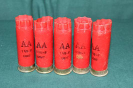 WINCHESTER12GA AA ショットシェル5発 レッド 使用済み
