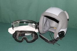 GENTEX PARACHUTIST HELMET パラシュート ヘルメット ゴーグル バイザー付き M 極上
