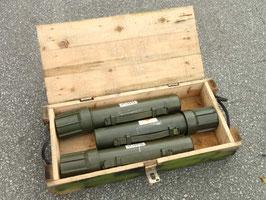 売切れ M252 81mm MORTAR 砲弾ケース3本セット 中古品