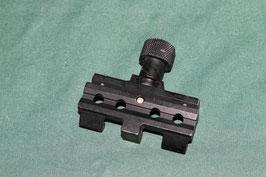 PAQ PEQなどに 20mm ピカニティー レイルグラバーマウント パーツ ブラックカラー 良品