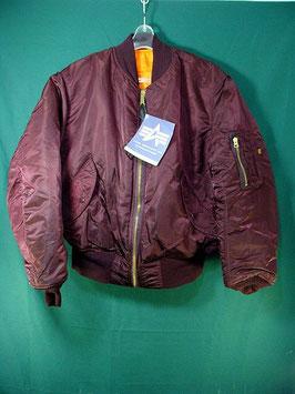 売切れ ALPHA MA-1 フライトジャケット ワインレッド