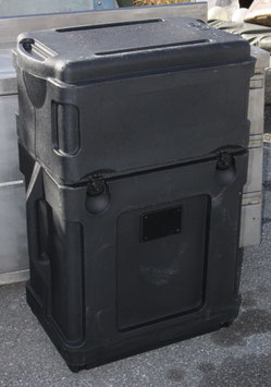 米軍放出品 キャスター付きブラックカラーBOX 中古