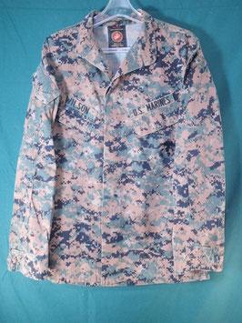 売切れ USMC PERIMETER INSECT GUARD ODピクセルジャケット  中古品