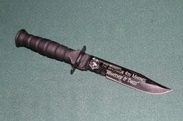 WARTECH 1ST BATTALION 4TH MARINES  アウトドア用 ブラックカラー ナイフ 中古