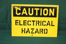 売切れ CAUTION 電気系統危険 看板 中古