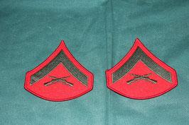 海兵隊 上等兵 肩章 ドレスジャケット用  ワッペン