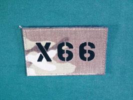 売切れ マルチカム IRコールサインパッチ X66