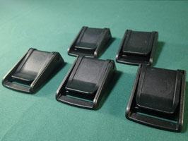 売切れ 新品5個セットNIFCO ニフコ ST38 プラスチック バックル 黒
