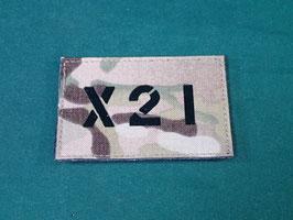 売切れ マルチカム IRコールサインパッチ X21