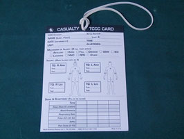 NAR  CASUALTY TCCC CARD 未使用