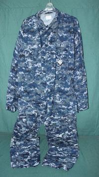 U.S NAVY 海軍 ブルーデジタル ジャケット &パンツ  上下 M