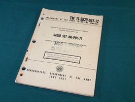 RADIO SET AN/PRC-77マニュアル 中古品