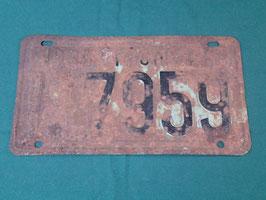 1938年 ミシガン州 ナンバープレート