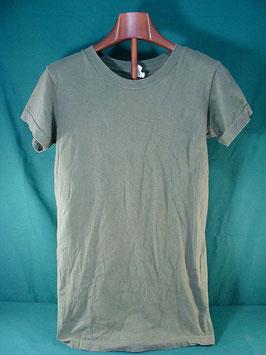 売切れ 米軍放出品 無地アンダーTシャツ ODカラー S