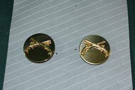 兵科章 憲兵科 MP ピンズ 2個 ゴールドカラー