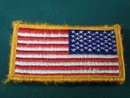 米軍放出品 星条旗ワッペン  ベルクロタイプ 中古品