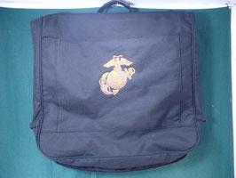 USMCマール入り ブラックカラー スーツ収納バッグ
