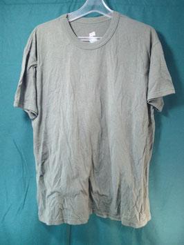 米軍放出品 無地 Tシャツ ODカラー L