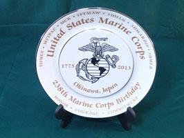USMC 238周年 バースデー記念皿 新品