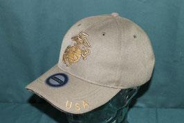 沖縄米軍 USMCマーク入り キャップ フリーサイズ ODカラー  新品
