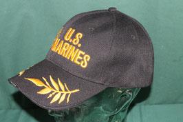 沖縄米軍 U.S.MARINES USMCマーク入り キャップ フリーサイズ ブラックカラー  新品