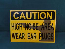 CAUTION 騒音注意 アルミ看板