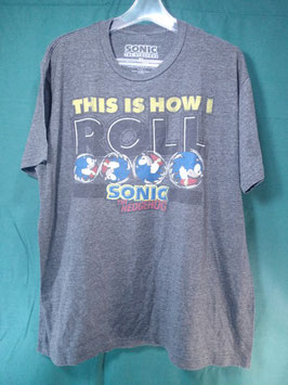 SONIC THE HEDGEHOG プリントTシャツ XL 中古品