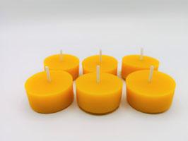 Teelichter aus Bienenwachs - 6er Set