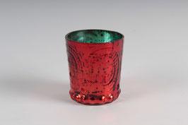 Windlicht Orient Klein Rot/Grün