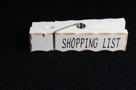 """Klammer """"Shopping List"""""""