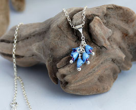 Blue Borage Necklace