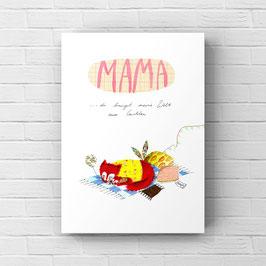 Mama print A4