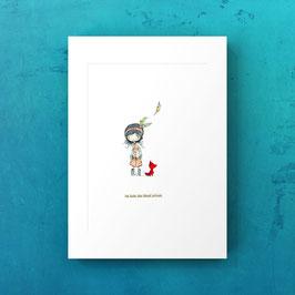 print Indianermädchen