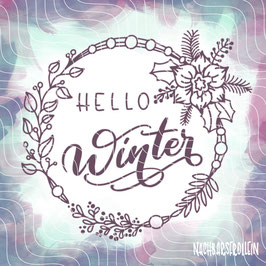 Plotterdatei 'Hello Winter'