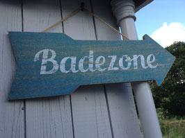 "★ Blaues Schild ""Badezone"""