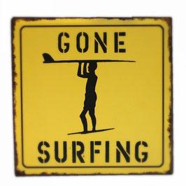 """★ Blechschild """"Gone Surfing"""""""