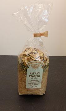 Safran Risotto mit Pilzen