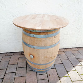 Tischplatte für 225Liter Weinfass, Eiche